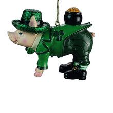 Kurt Adler 4in Irish Pig Ornament #D2971