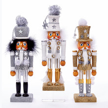 "Kurt Adler 10.5"" Holly Wood Soldier Nutcracker, 3 Assorted #C6017"