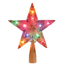 Kurt Adler UL 7in Multi Crystal Star Treetop #UL0158