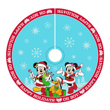 Kurt Adler 48in Mickey & Minnie Print Satin Tree Skirt #DN7166
