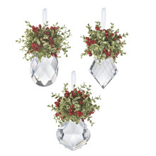 Kissing Krystals Mistletoe Ornament, 4 Assorted #KK14