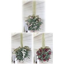 Kissing Krystals Small Mistletoe Ball Ornament, 3 Assorted #KK28