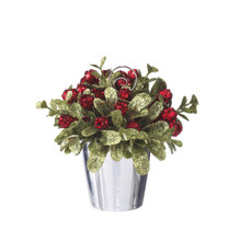 Kissing Krystals Mini Mistletoe Potted Tree with Cardholder #KK259