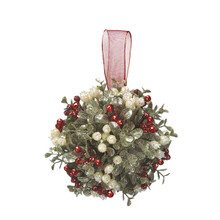 Kissing Krystals Small Mistletoe Ball Ornament #KK275