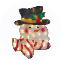 20lt Glazed Snowman Window Mold #03410