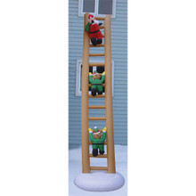 Animated Santa & Elves on Ladder Inflatable #19314