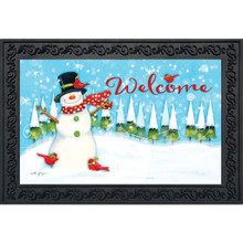 Briarwood Lane Winter Snowman Doormat #D00100