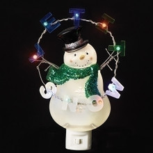 "8.25"" Snowman Let It Snow Flicker LED Night Light #160005"