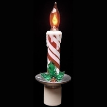 Candy Stripe Candle Night Light Wall- Swivel Plug #164581