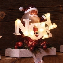 "6.5"" LED Santa Noel Stocking Holder Holder, Battery-Operated #30433"