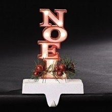 "7"" LED Noel Marquee Stocking Holder, Battery-Operated #30437"