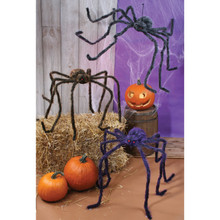 Hairy Spider, 4 Assorted #8499