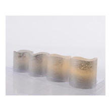 Silver LED Votive Candles, Set of 4 #482916