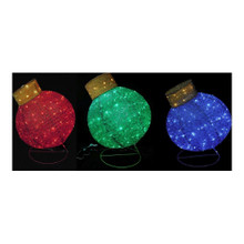 3D Lighted Ornament, 3 Assorted #57888075