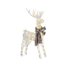 Silver Frozen Grapevine Lighted Buck #AS36434