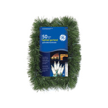 GE Holiday Classics Lighted Garland in Clear #AS84606