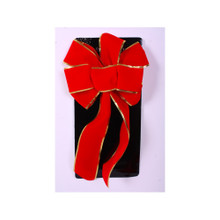 Pressed Edge Red Velvet Bow #101P24A610