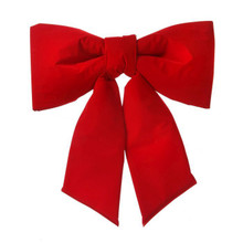 """24"""" Red Wired Outdoor Padded Velvet Bow UV-Resistant #MTX48435"""