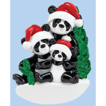 Rudolph & Me Bamboo Panda Family of 3 Personalized Ornament #1207-3