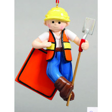 Rudolph & Me Construction Guy Personalized Ornament #1354