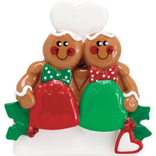 Rudolph & Me Gum Drop Gingerbread Couple Personalized Ornament #1620