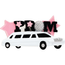 Rudolph & Me Prom Car Personalized Ornament #1680
