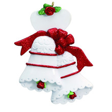 Rudolph & Me Wedding Bells Personalized Ornament #696