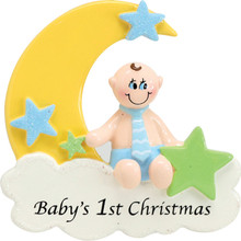 Rudolph & Me Baby Boy On Cloud Personalized Ornament #912B