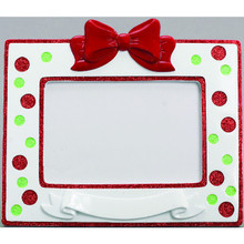Rudolph & Me Polka Dots Banner Personalized Frame #RMF-PDB