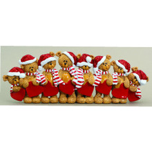 Rudolph & Me 8 Stocking Cap Bears Family Personalized Ornament #TT205-8
