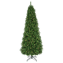 10' PreLit Slim Thunder Bay Tree with 1,400 Clear UL Lights #MTX46976B