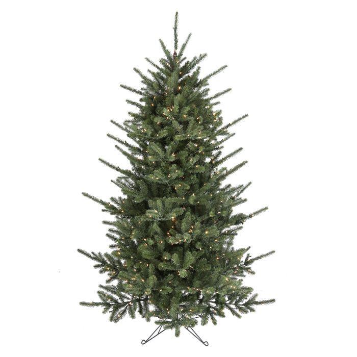 Led spike pine christmas tree with clear lights