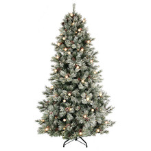 9' EZ Plug Frost Jade Mountain Tree w 1,200 Clear UL Lights #MTX52578