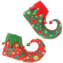 RAZ Elf Shoe Ornament, 2 Assorted #3516156