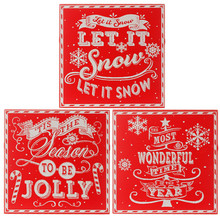 RAZ Christmas Wishes Plaque, 3 Assorted #3516383