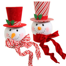 RAZ Large Peppermint Snowman Head, 2 Assorted #3516494