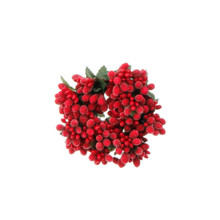 RAZ Red Beaded Berry Candlering #3610105
