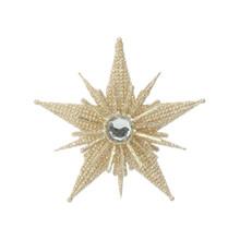 RAZ Gold Glittered Starburst Ornament #3614116