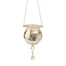 RAZ Gold Mercury Glass Tea-Lite Drop Ornament #3623122