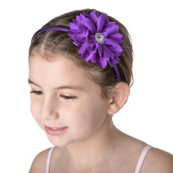 Studio 7 Dancewear Purple Flower Jewel Headband