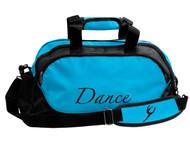 Medium size dance bag in turquoise & black