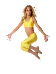 T-Back Crop Top CHCT01 Yellow
