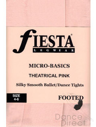 Footed Tights in colour Theatrical Pink