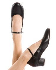 ENERGETIKS  Tap Shoe Cuban Heel Ladies Black