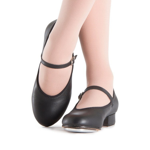 Black Tap On Girls Tap Shoe