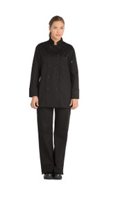 Dickies Chef DC414-BLK Filipina de Chef para Mujer