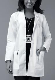 Dickies Medical 84400 Bata de Laboratorio  para Mujer Basica de Tres Bolsas