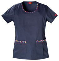 Dickies Medical 82846 Filipina de Mujer Cuello Redondo Estampado