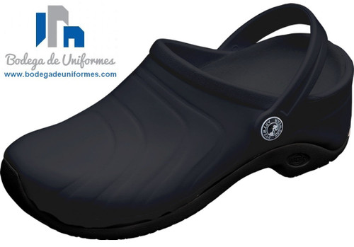 Anywear Zone Zapato Unisex BLK Ideal para Chef y Hospitales