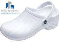 Anywear Zone Zapato Unisex WHT Ideal para Chef y Hospitales